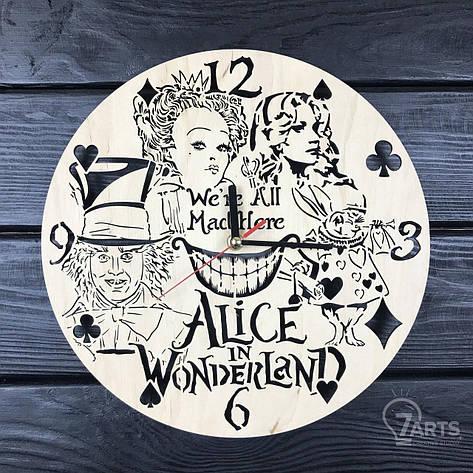 Детские настенные часы из дерева «Алиса в стране чудес», фото 2
