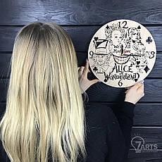 Детские настенные часы из дерева «Алиса в стране чудес», фото 3
