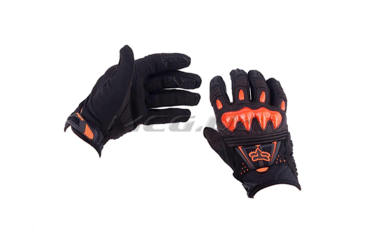 Перчатки   FOX   BOMBER   (mod:055, size:XL, черно-оранживые)
