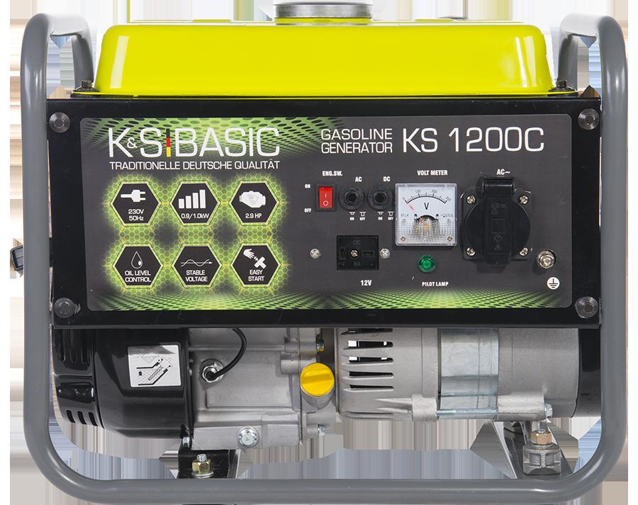 Генератор бензиновый Konner&Sohnen KS 1200 С 1.0кВт однофазный Германия