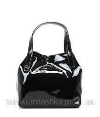 купить лаковую сумку черного цвета недорого украина