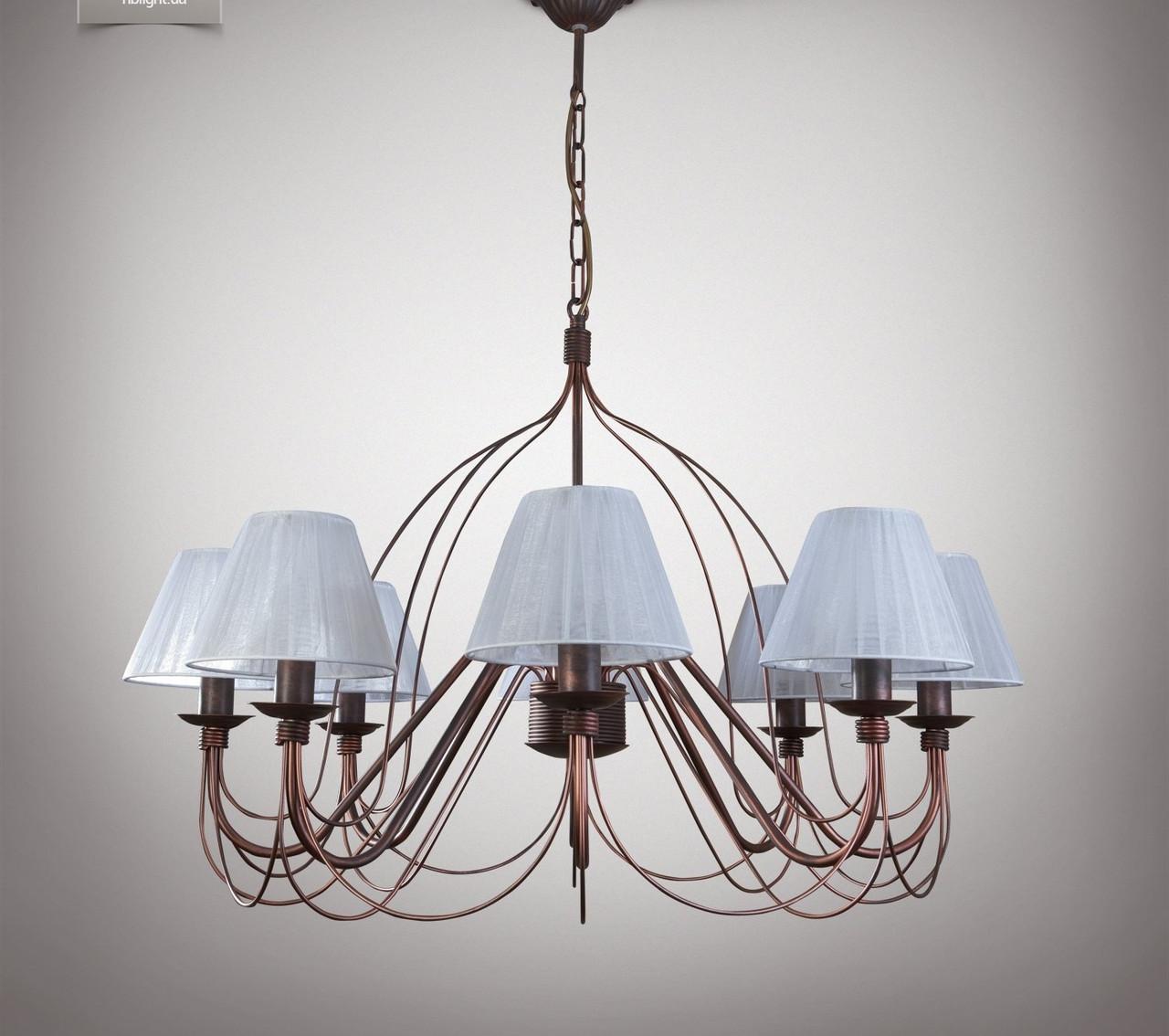 Люстра 8 ламповая для гостиной, зала, большой комнаты 18388-2