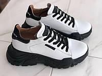 Кожаные женские кроссовки белые Carlo Pachini 4561ч/бел размеры 38,39,40