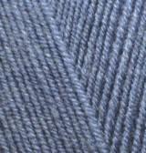 Пряжа для вязания Лана голд файн  203 тем. джинс