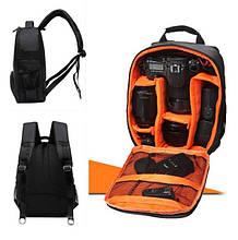 Рюкзак для камеры T-C6005 черный с оранжевым