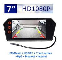 """Универсальный автомобильный сенсорный монитор 7"""" с камерой BT/USB/TF/MP5, фото 1"""