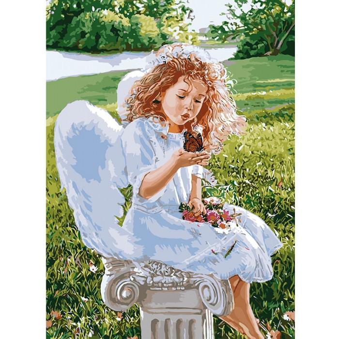 Картина по номерам Идейка КНО2330 Подих янгола 35х50см ідейка картины Діти, ангели