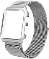 Ремешок XoKo Melanise для Apple Watch 38mm с накладкой Silver