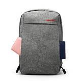 Сумка-рюкзак T-S8038 серая, фото 3