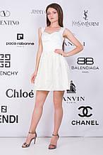"Сочные летние платья с гипюром ткань ""Атласная ткань"" 42, 44, 46 размеры норма 42"