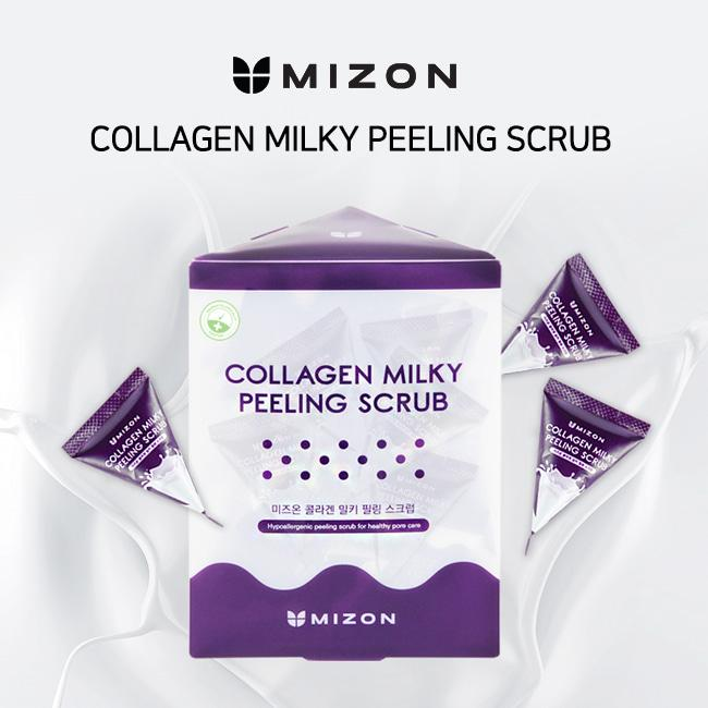 Скраб для лица Mizon Collagen Milky Peeling Scrub 7г Корея