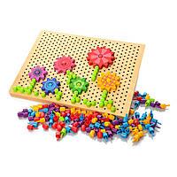 Деревянная игрушкаMD 1218Мозаика и игра-ходилка