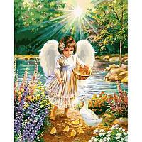 Картина по номерам Ангельская забота VP902 40x50 см., Babylon