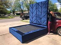 Кровать -Эль Фуоко-. Кровать в тканевой обивке. кровати под заказ.