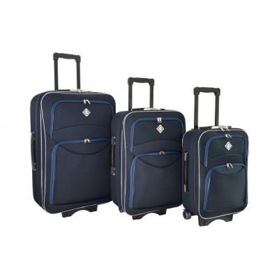 Чемодан Bonro Style набор 3 штуки, синий