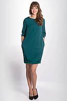 Женское трикотажное платье цвета туркус. Модель 622 Mirabelle. Коллекция осень-зима 2015-2016.