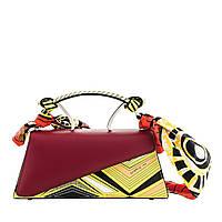 Женская кожаная мини-сумка Сromia бордо