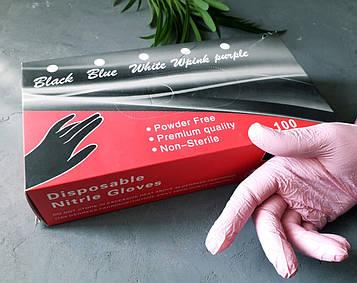 Перчатки STARLET нитриловые розовые 100 шт./уп размер М