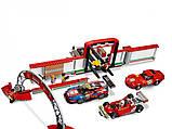 "Конструктор ""Гараж Ferrari"" (Аналог Lego Speed Champions 75889) Senco 915+ деталей, фото 5"