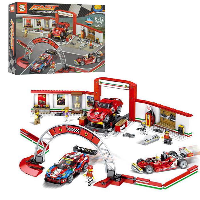 "Конструктор ""Гараж Ferrari"" (Аналог Lego Speed Champions 75889) Senco 915+ деталей"