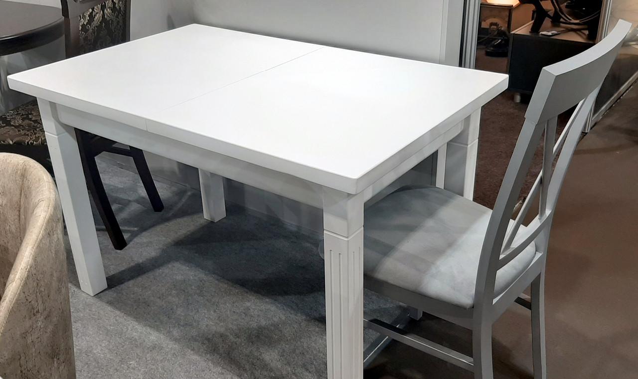 Стол обеденный   Классик Люкс  120 fn (белый,  ваниль RAL1013, бежевый RAL1015    )