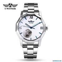 Мужские механические часы WINNER  скелетон с автоподзаводом