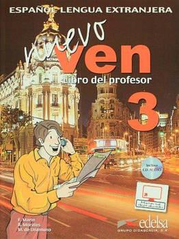 Nuevo Ven 3 Libro del profesor + CD audio