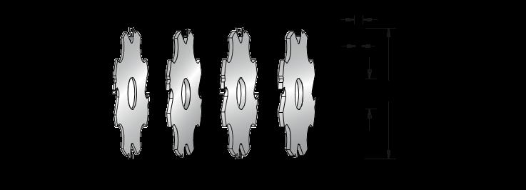Фреза насадна DIMAR пазова 5х32 мм D=125 d=30 B=5 Z4, фото 2