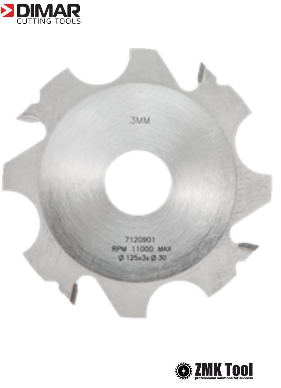 Комплект фрез DIMAR для пазів товщиною від 3 до 18 мм D=125 d=30 B=3-18 Z4