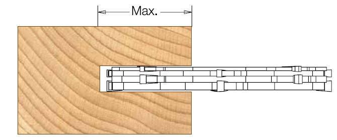 Комплект фрез DIMAR для пазов толщиной от 3 до 18 мм D=125 d=30 B=3-18 Z4, фото 2