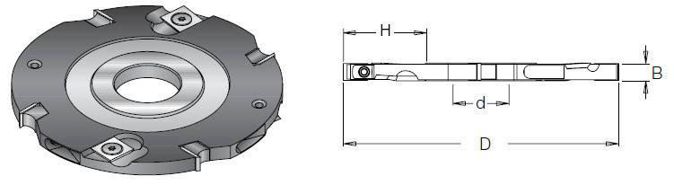 Фреза насадная DIMAR пазовая 6 мм D=125 d=30-35 B=6 Z4+4, фото 2