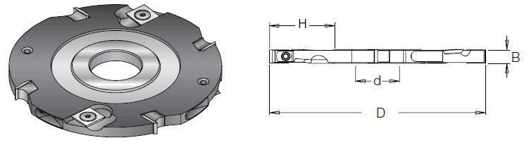 Фреза насадна DIMAR пазова 5 мм D=150 d=30-35 B=5 Z4+4, фото 2