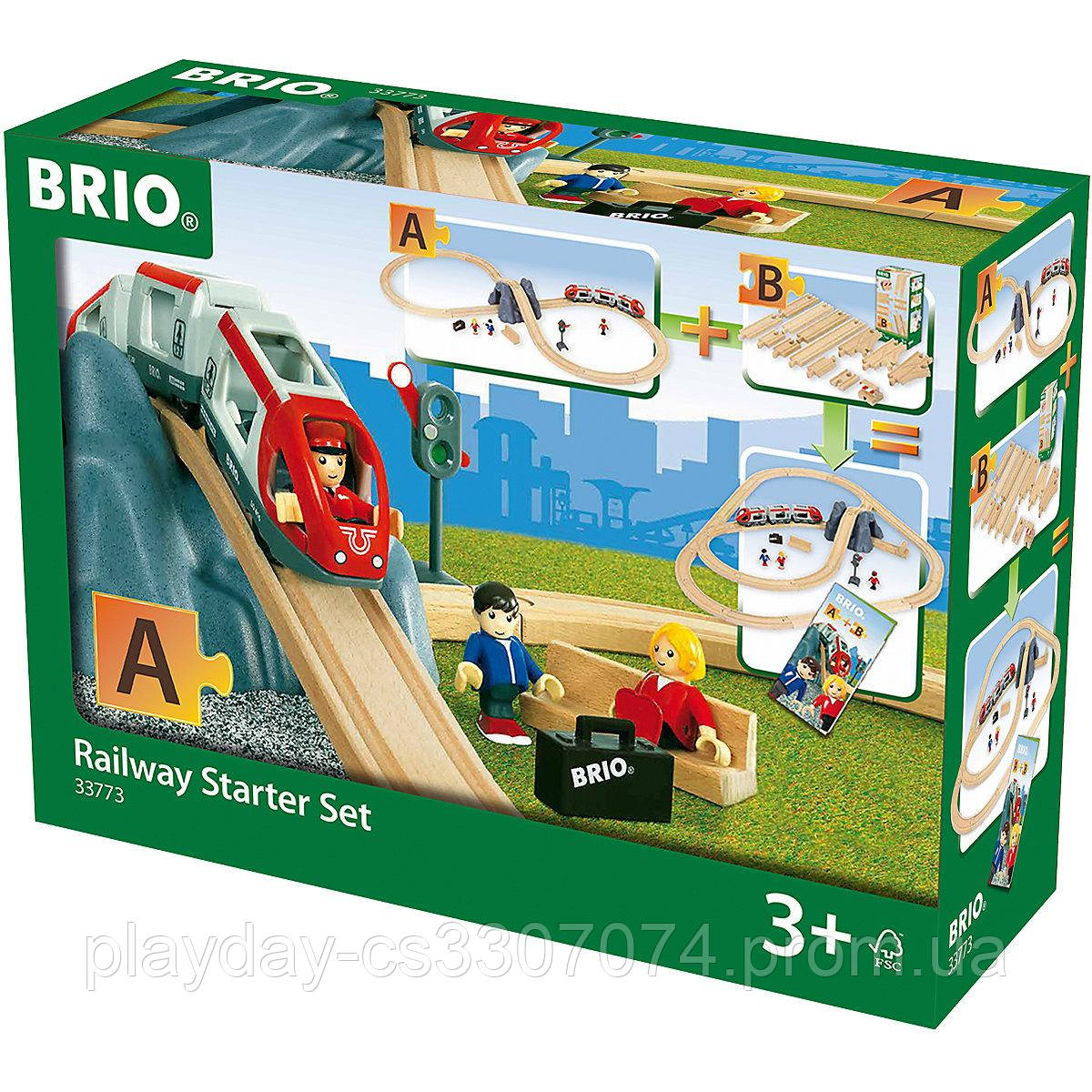 Стартовый набор деревянной железной дороги Brio метро Railway Starter Set