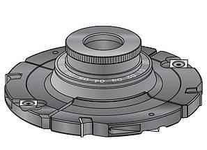 Фреза насадна DIMAR для пазування з можливістю регулювання 4.0-7.5 мм D=160 d=30 B=4.0-7.5 Z8+4, фото 2