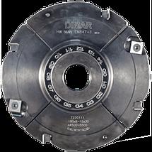 Фреза насадна DIMAR для пазування з можливістю регулювання 4.0-7.5 мм D=160 d=30 B=4.0-7.5 Z8+4, фото 3