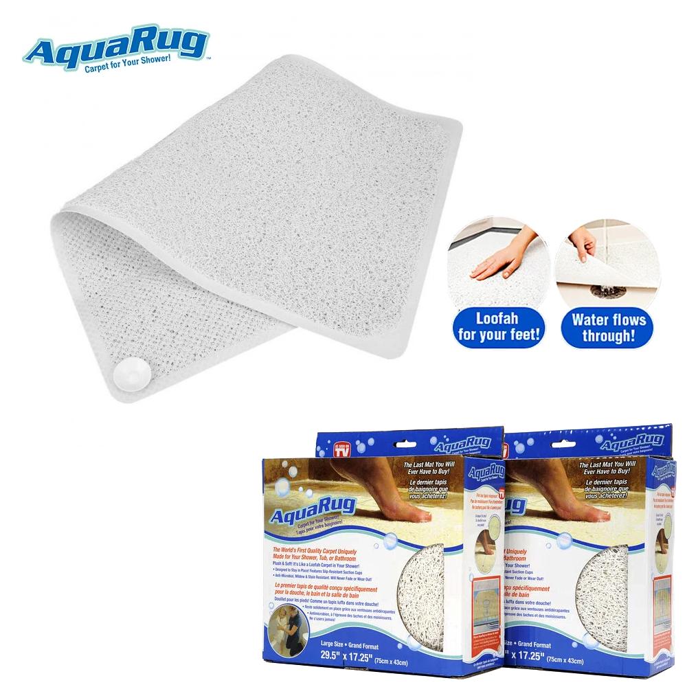 Противоскользящий коврик для ванной комнаты AquaRug, антискользящий ковер на присосках в ванную