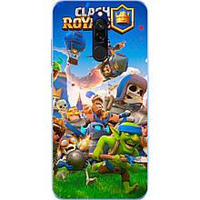 Чехол для Xiaomi Redmi 8 с картинкой Игра Clash Royale Герои