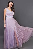 Нарядное плаття женское в пол стильное красивое выпускное блестящее на свадьбу для свидетельницы