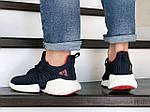 Чоловічі кросівки Adidas (темно-сині з білим) 9169, фото 4