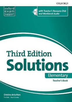 Solutions 3rd Edition Elementary Essentials Teacher's Book & Resource Disc Pack