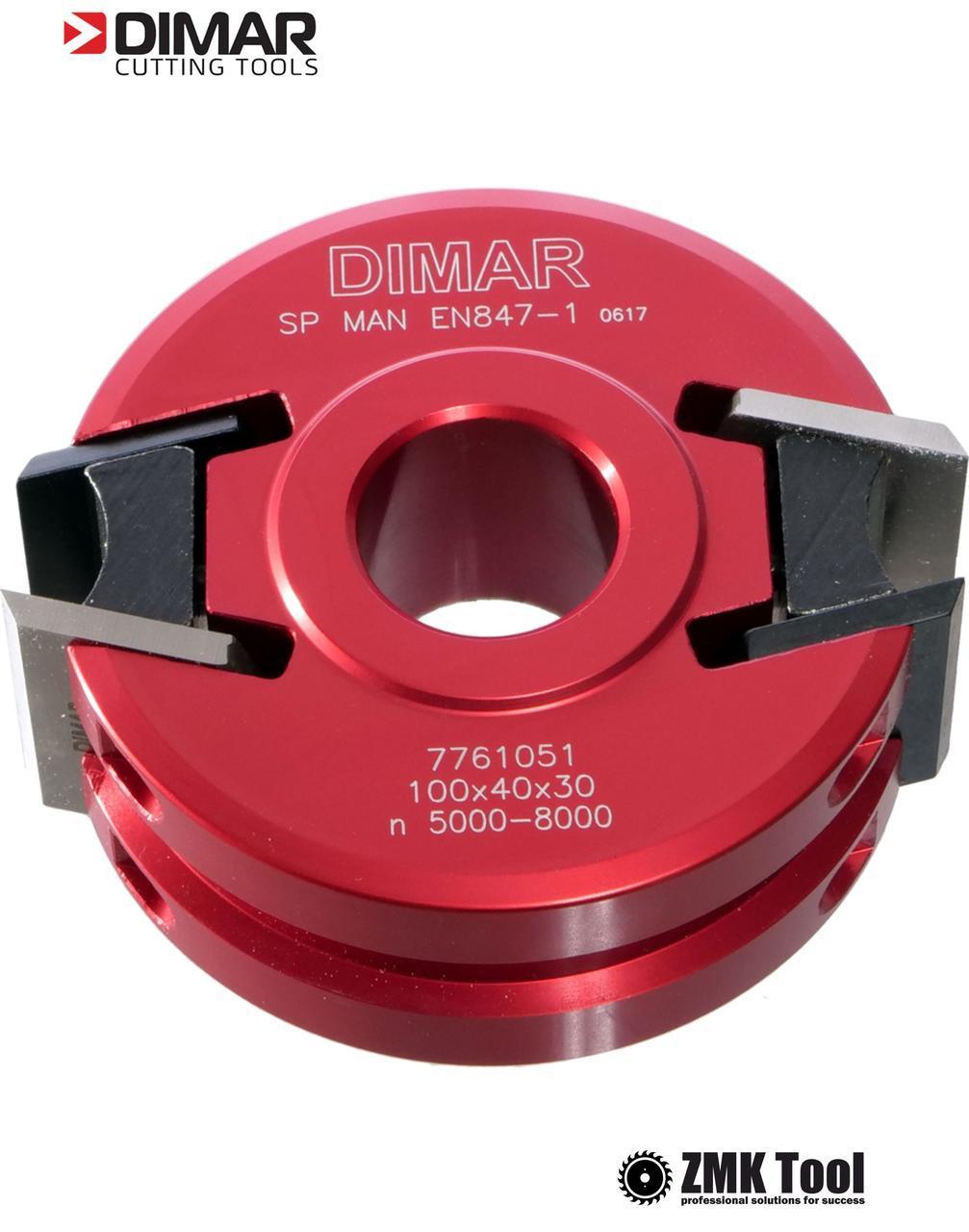 Фреза насадная DIMAR мультипрофильная D=100 d=30 B=40 Z2. алюминиевый корпус