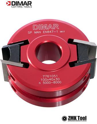 Фреза насадная DIMAR мультипрофильная D=120 d=30 B=40 Z2. алюминиевый корпус, фото 2