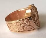 Кольцо мужское 700730ЮМ, Георгий Победоносец, золото 585 проба, фото 2