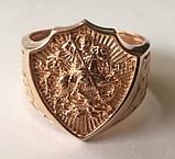 Кольцо мужское 700730ЮМ, Георгий Победоносец, золото 585 проба, фото 4