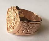 Кольцо мужское 700730ЮМ, Георгий Победоносец, золото 585 проба, фото 6