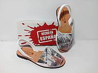 Принтованые босоножки из натуральной кожи Испания, оригинал