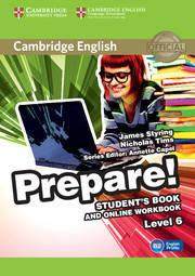 Cambridge English Prepare! Level 6 Student's Book and online Workbook including Companion for Ukraine