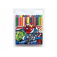 Фломастеры YES 24 цветов ''Marvel''