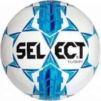 Мяч футбольный SELECT Fusion (005) бел/син, размер 3