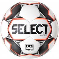 Мяч футбольный SELECT Super FIFA (011) бел/сер, р.5